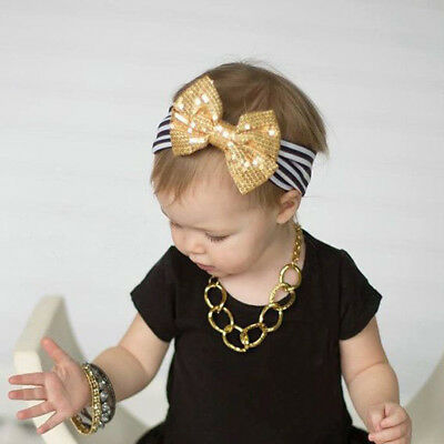 Striated Cotton Head Band Turban Headband Knot Rabbit Bow Hairband For Baby