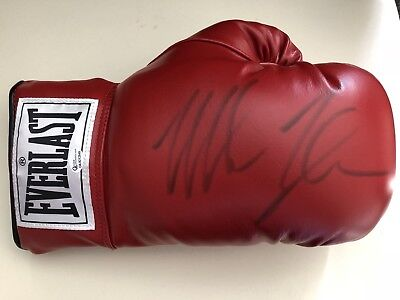 Boxing Mike Tyson Signed Everlast Boxing Glove Online Authentics