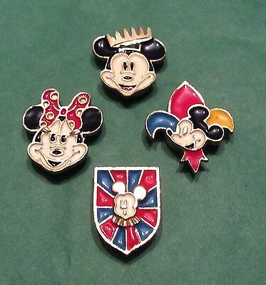 Vintage set of 4 Disney Mickey and Minnie Mouse button covers