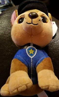 "TY Beanie Baby 6"" Paw Patrol CHASE German Shepherd Plush Stuffed Animal MWMT's"