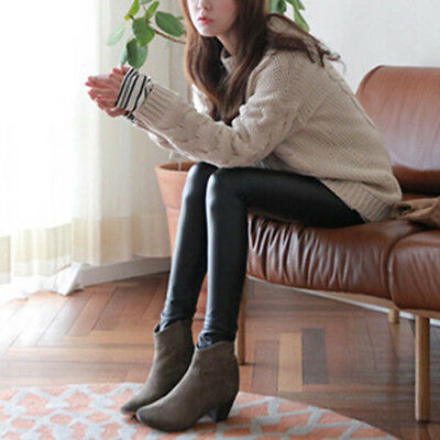 Fashion Style Tights Women Sexy Wet Look Shiny Faux Leather Leggings Pants WA