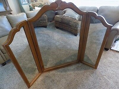 Ethan Allen Country French Tri-fold Mirror