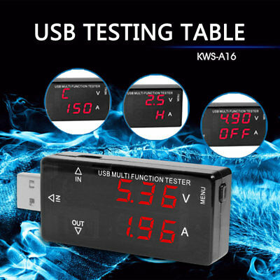 USB Charger Doctor Voltage Current Meter Handy Battery Tester Power Detector AU]