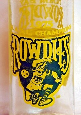 Pepsi-Cola; 16oz., ACL soda pop bottle; 1975 N.A.S.L. Champions Tampa Rowdies