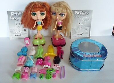2 Diva Starz Alexa Summer 2001 + 25 Pieces + Carry Case Imperial Petite Miss