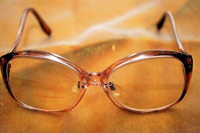 70s Vintage eyeglasses eye glasses eyewear frames M/C USA bifocal Rose Blush