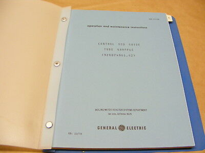 1978 Nuclear Power Plant Control Rod Guide Operation Manual General Electric