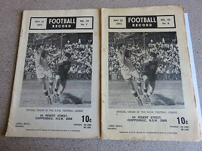 2 x 1971 NSW Football League Records