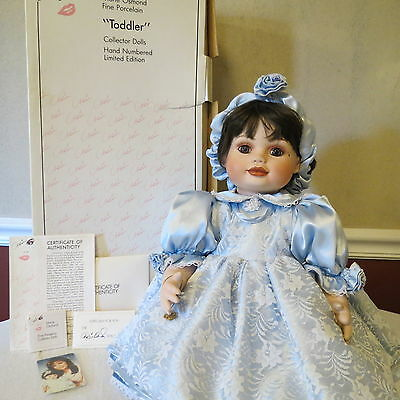 """Marie Osmond Original """"Olive May"""" Porcelain Doll 24"""" Toddler w/Box & COA Limited"""