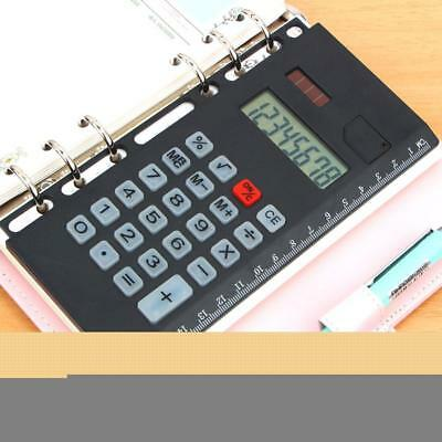 A5 Creative Loose Leaf Binder Spiral Calculator 8 Digits Solar Calculator New UK