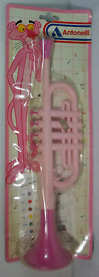 ANTONELLI ITALY VTG PINK PANTHER TRUMPET PLASTIC MUSIC ORGAN w/ NOTES MOC SEALED