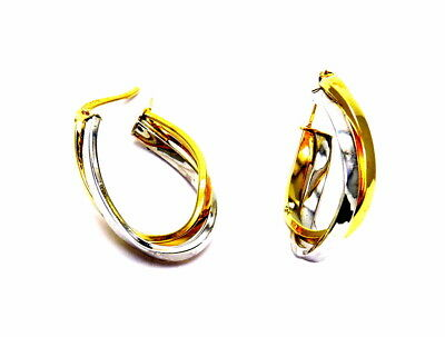 Gold Earrings 18Kt Rings - Wheels Yellow And White Gold
