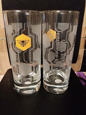 A Pair of Jack Daniels Tennessee Honey Collins Glasses