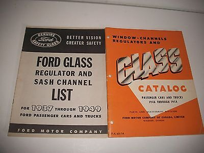 1937-1954 Ford & Mercury Cars & Trucks Glass & Associated Parts Catalog