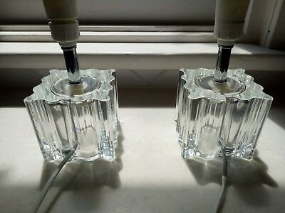 Pair of vintage/retro clear glass lamps; can post!