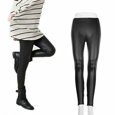 Fashion Style Tights Women Sexy Wet Look Shiny Faux Leather Pants Leggings WA