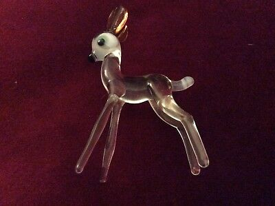Whitby Glass Deer Perfect Condition. Really Sweet
