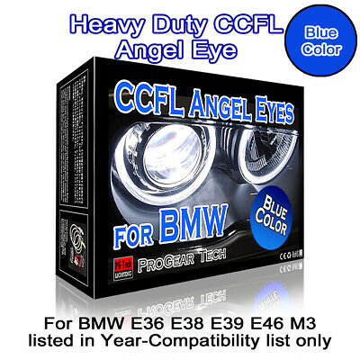 Heavy Duty 30000K Blue 131 mm BMW CCFL Angel Eyes Halo Rings DRL E46 E39 E38 E36