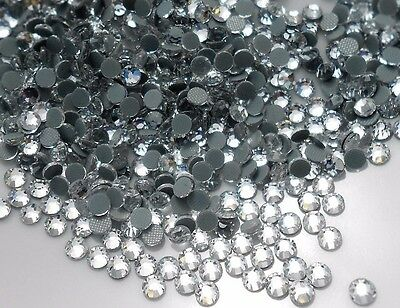 SS16 DMC Crystal CLEAR GLASS Flatback Hotfix Rhinestones 3.8-4mm 750pcs Iron on
