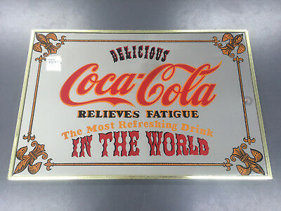 Retro Coca-Cola Mirror Delicious Relieves Fatigue Most Refreshing Drink In World