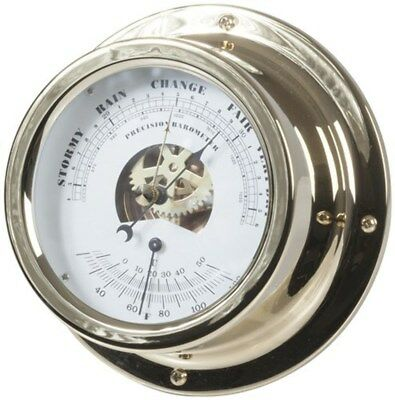 Brass Barometer with Thermometer 150 x 61mm
