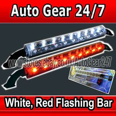 12V Auto Transporter Boot Limousine Heim Hülle Display BLINK Weiß Rot LED-Licht