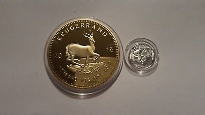 2016 1oz Gold South Africa Krugerrand. EP.and x1 999 silver 1 gram panda coin--,