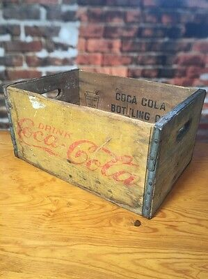 """Coca Cola Crate Coke New York And Pennsylvania Stamp 17"""" x 11.5"""" Large Vintage"""