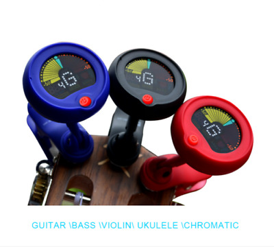 Colorful Eno Emt300 Chromatic Headstock Tuner For Guitar Bass Banjo Ukulele!