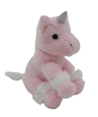 "6"" Plush Unicorn with Glitter Horn Soft Toy CuteStuffed Animal Kids Gift Present"