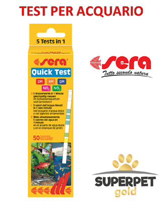 Sera Quick Test 50 Strisce 5 Test Acqua Dolce Ph - Kh - Gh - No3 - No2