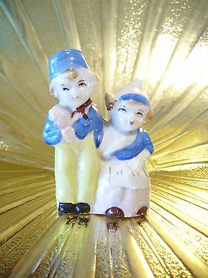 Very RARE Vintage Japan Tiny Dutch Boy & Girl Holland Figurine