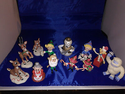 Rudolph and the Island of Misfit Toys lott of  12 Figurines  used condition
