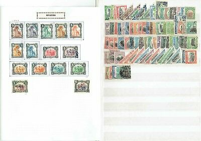 #128 MORE Africa Colonies + MISC WORLD collection mounted on cards (20x sides)