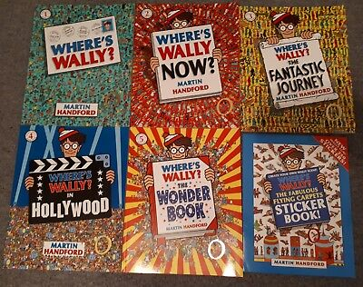 Boxed Set 5 Where's Wally? Solid Gold Collection , 5 books Play Scene & Stickers