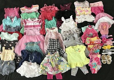 Baby Girl 0-3 3-6 Month Summer Lot Clothes Outfits Dresses rompers swim