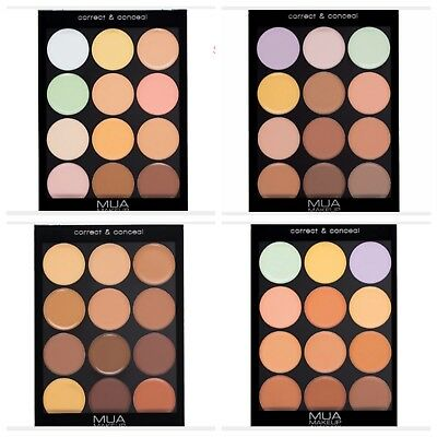 MUA Pro Correct & Conceal Palette Light Yellow Green Lilac Foundation Contouring
