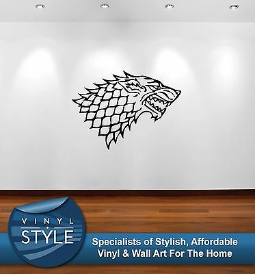 Game Of Thrones Stark Logo Winter Is Coming Decal Decor Sticker Wall Art Graphic