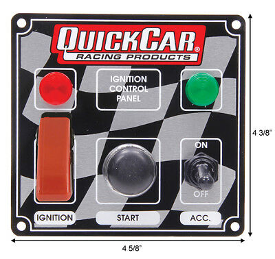 quickcar 50-023 start, ignition aircraft switch and accessory panel #2039