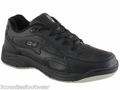 Wide Fit Leather Trainers Black All Size 6 7 8 9 10 11 12 13 14