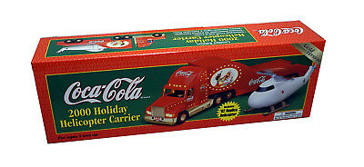 Coca Cola Coke Helicopter Carrier Tractor Trailer Semi Truck ~ Gold Version NEW