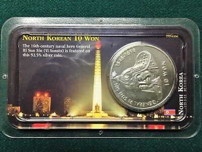 2001 Korea 10 Won Silver Coin - 92.5% Silver - Littleton Packaging