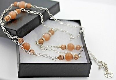 """Edna Haak Rose Gold Plated Sterling Silver 42"""" Murano Glass Necklace"""