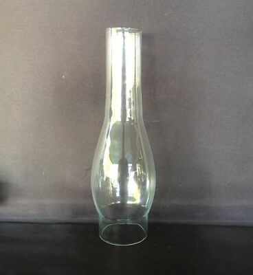 Glass Oil Lamp Chimney - Duplex Round 63mm or 2 1/2inch base diameter.