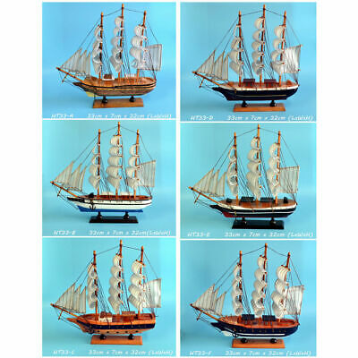 New Gift Hobby Collection Vintage Retro 33cm Wooden Sailing Ship Model 4 DesignS