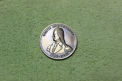 1983-TOKEN-COIN-MEDAL-200th ANNIVERSARY-MONTGOMERY LODGE-LAKEVILLE, CONNETICUT
