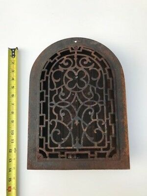 Antique Cast Iron Arched Top,  Dome Heat Grate ~ Vintage Vent / Wall Register