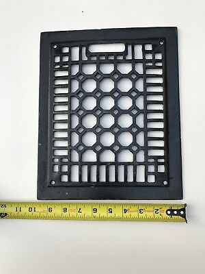 "Cast Iron Floor Wall Vent Grate Cover Register Antique Vintage 11 1/2"" x 9 1/2"""