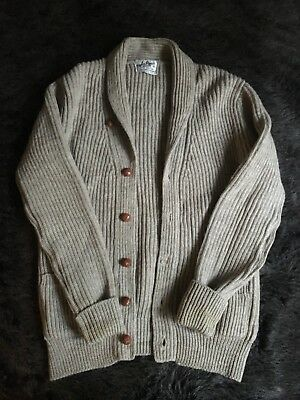Vintage 70s 100% Wool Knit Cardigan Size M