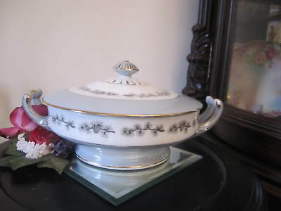 Seyei Fine China Japan Porcelain Pinecone Gold Band Covered Vegetable